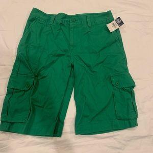 Green Polo shorts